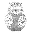 Hand drawn owl in doodle style vector image