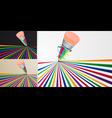 colored pencil vector image