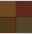 autumn color plaids vector image