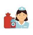 avatar woman nurse vector image