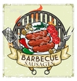 BBQ Grill label design - Sausages vector image