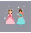 Beautiful princess characters vector image