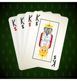 Business playing cards Four kings vector image