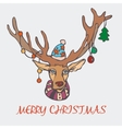 Christmas reindeer and a sweater in the New Year vector image