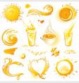 Collection of orange design elements vector image