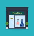 Fashion boutique facade Clothes shop Ideal for vector image