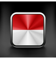 Indonesia icon flag national travel icon country vector image