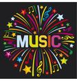 Music firework vector image