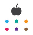 of meal symbol on apple icon vector image