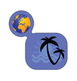 palm with globe color vector image