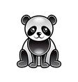 Cute cartoon panda isolated vector image