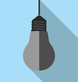 Turned off lightbulb hanging vector image
