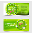spring and summer sale coupon vector image