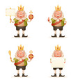 king cute cheerful ruler blank paper thumb up vector image