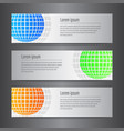 set of design world banner template vector image vector image