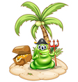 A pirate monster in the island vector image vector image