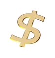 dollar sign currency denomination of payment gold vector image