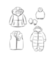 Clothes for baby girl vector image
