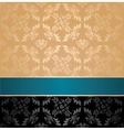 seamless pattern floral decorative background vector image vector image