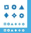 Coporate business geometric 3d set vector image
