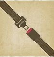 safety belt old background vector image