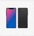 black mobile phone mockup vector image