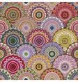boho chic flower seamless pattern Elegant vector image
