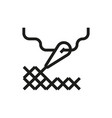cross stitching icon on white background vector image