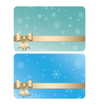 gift cards with ribbons for christmas vector image