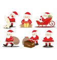 santa claus job activities and duties process vector image