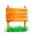 wooden pointer with green grass vector image