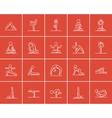 Yoga sketch icon set vector image