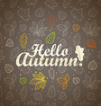 Different leaves silhouettes autumn concept Hello vector image vector image