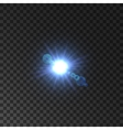 Lens flare effect of shining star light vector image