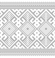 Ukrainian Ethnic Stitch Pattern vector image