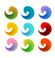 isolated abstract colorful swirl logos set on vector image