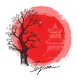 bamboo in red sun vector image