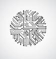abstract computer circuit board monochrome vector image vector image