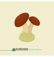 Cartoon colored mushrooms Isometric vector image