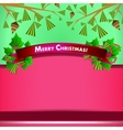 backdrop for christmas invitation or new year vector image