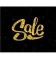 Christmas Sale gold glittering lettering design vector image