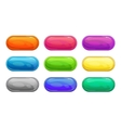 Colorful long horizontal glossy buttons vector image