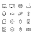 Computer and Computer Accessories icons vector image