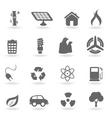 ecofriendly icons vector image