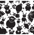 farm animals simple black and white seamless vector image