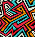 graffiti tribal seamless texture with grunge vector image