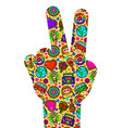 hand sign of peace vector image
