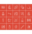 Maternity sketch icon set vector image