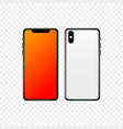 new smartphone design isolated vector image