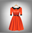 red dress on hanger vector image